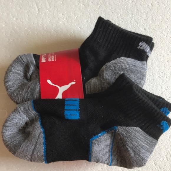 7-8.5 Blk Red//Blk Blue S POLO Ralph Lauren Boy/'s 3 Pair Athletic Crew Socks